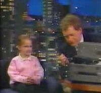 Six year old ham on Letterman
