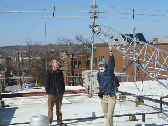 Doug and Ovide on the Roof