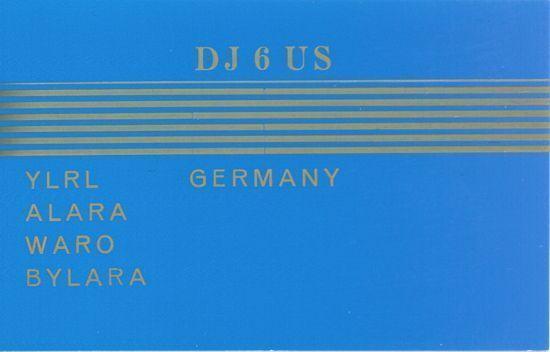 DJ6US QSL